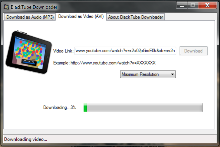 BlackTube Free Youtube Video Downloader 1.0.405 screenshot