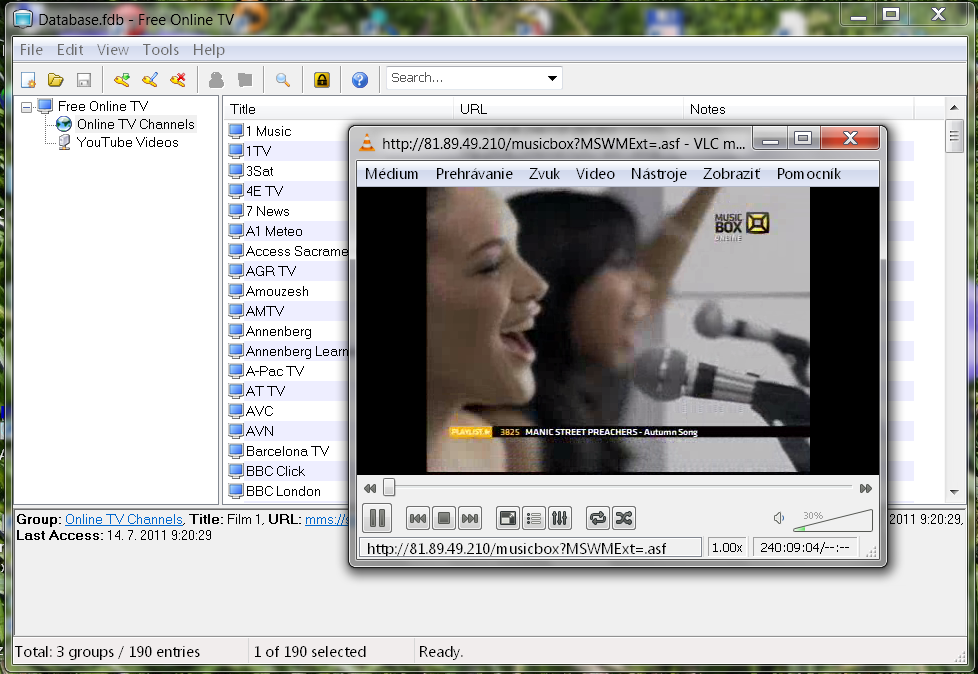 Click to view Free Online TV 1.0.195 screenshot
